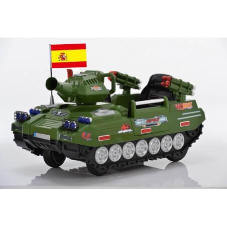 Char Militaire 12v télécommande voiture eléctrique enfants