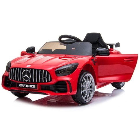 Coche eléctrico para niños Mercedes GTR AMG con batería 12v y mando