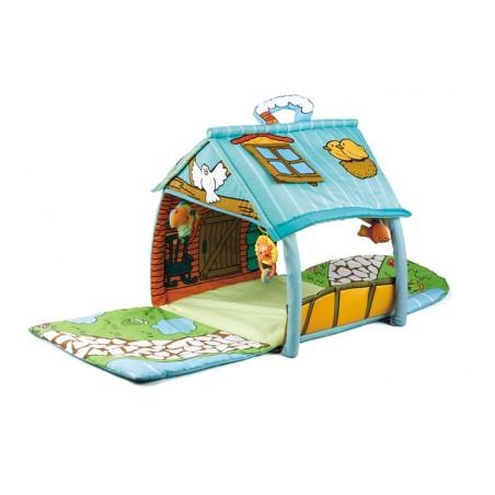 Manta de juegos con casita