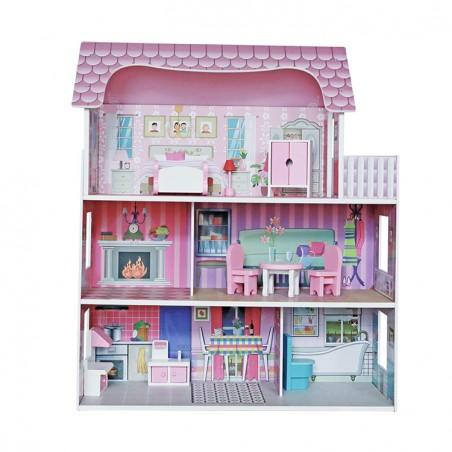 Casita de muñecas para niñas y niños 62x27x70cm