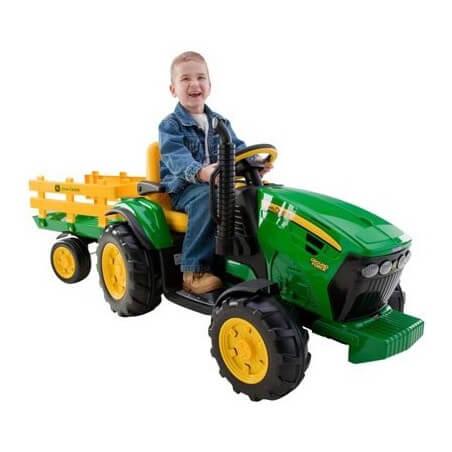 Tracteur John Deere 12v-tracteur électronique enfants sur batterie
