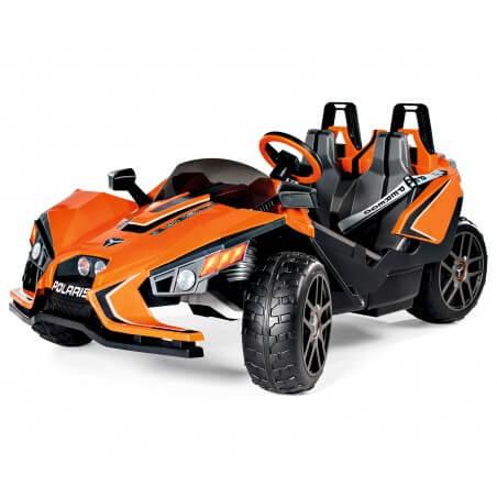 Polaris SlingShot Biplaza - buggy eléctrico niños dos plazas 12v