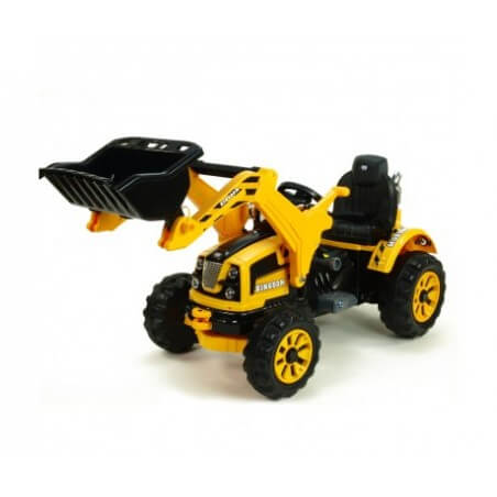 TRACTEUR ÉLECTRIQUE PELLE ROYAUME 12V MP3 POUR ENFANTS