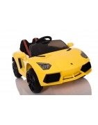 Carros elétricos para crianças 6v, 12v e 24v com linha esportiva