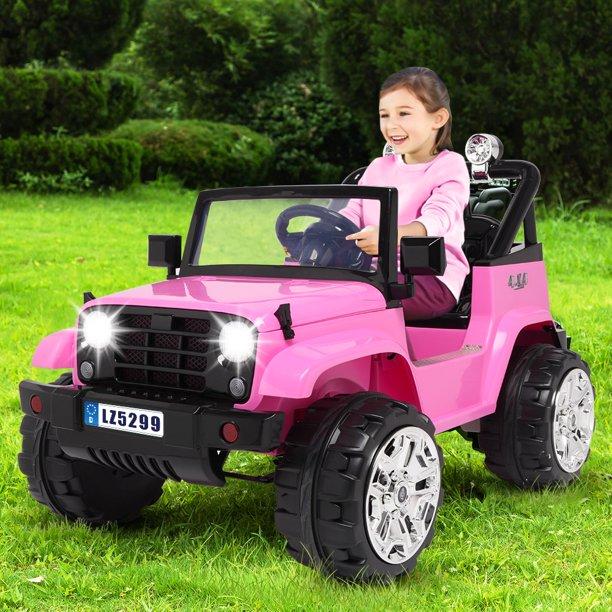 coches eléctricos para niños y niñas de color rosa